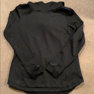 Hooded brushed black sweatshirt